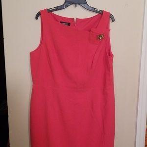 Nine West   Plus Size Coral Dress   Size 16